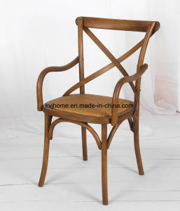 Antique Wooden Cross Back Arm Chair (Rch-4002) pictures & photos