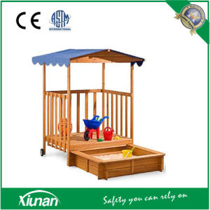 Kids Wooden Playhouse with Sandbox pictures & photos
