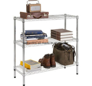 3 Tier Home Storage Studyroom Space Saver DIY Metal Shelf Wire Rack pictures & photos