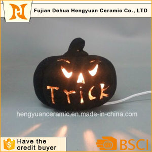 Black Color Ceramic Halloween Decoration Pumpkins pictures & photos