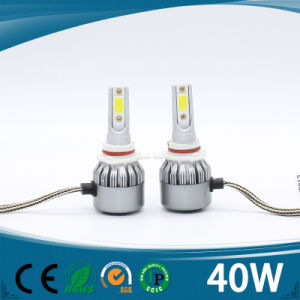 Ce waterproof High Power 40W 4500lm H1 H7 H4 9005 Car LED Headlight with Fans pictures & photos
