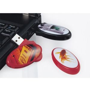 Plastic Oval Shape USB Flash Drive with Custom Logo Printing pictures & photos