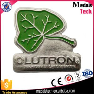 Promotional Silver Plating Leaf Shape Lapel Pin pictures & photos