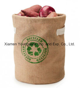 Fashion Promotional Custom Printed Kids Extra Large Jute Toy Storage Bags pictures & photos