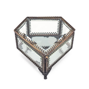 Retro Style and fashion Glass Jewelry Storage Box pictures & photos
