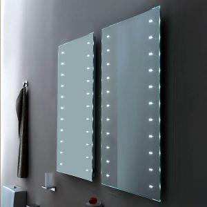 Apartment Small Size LED Illuminated Backlit Corner Bathroom Mirror