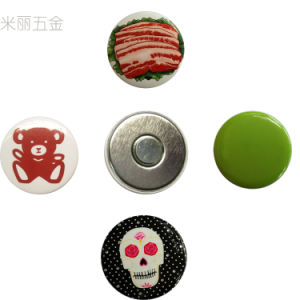 Round Tin Badge Fridge Magnet pictures & photos