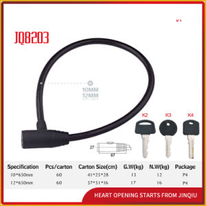 Jq8203 High Quality Anti-Theft Bicycle Lock Motorcycle Steel Cable Lock pictures & photos