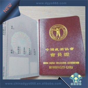 Custom Hot Stamping Hologram Security Document Printing pictures & photos