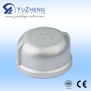 Stainless Steel BSPT Round Cap pictures & photos