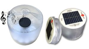 Solar LED Lantern with Bluetooth Speaker for Hiking Camping pictures & photos