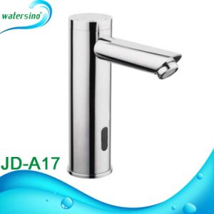 Jd-A17 Brass Sensor Faucet Round Automatic Basin Mixer for pictures & photos