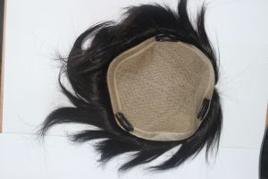 Silk Top Human Remy Hair Lace Toupee for Men pictures & photos