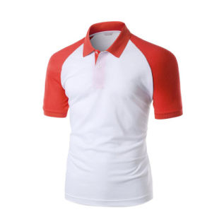 Brand Logo Stylish Sports Pink and White Cotton Polo Tshirt pictures & photos