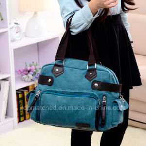 New Fashion Casual Shoulder Messenger Canvas Tote Lady Hand Bag pictures & photos