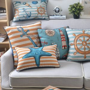 Bargain Cotton Linen Throw Pillow Sets for Outdoor Furniture pictures & photos