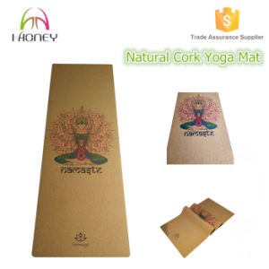 Travel Cork Yoga Mat + Natural Rubber Portable Light Ultimate Non-Slip Yoga Mats pictures & photos