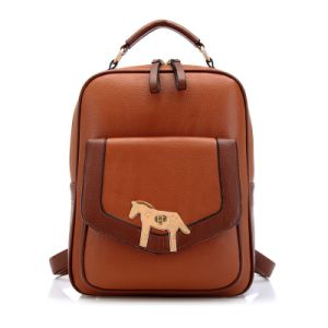 New Arrival Leather Patchwork School Kids Backpack Bags