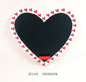 Wooden Heart Shaped Valentine Wall Art Blackboard (JF1442) pictures & photos