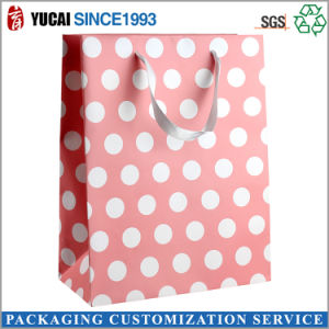 210g Paper Shopping Bag Pink Printed Bag pictures & photos