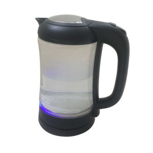 Electric Glass Kettle 360 Degree Cordless Stainless Steel Decorate with LED Light Kt-21 pictures & photos