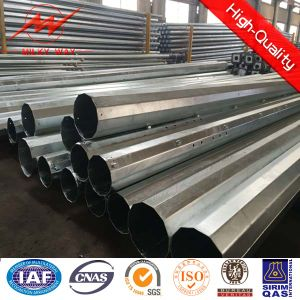12m 800dan 3mm Thickness Electric Steel Power Pole pictures & photos