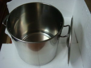 Stainless Steel Double Bottom Large Diameter Soup Pot pictures & photos