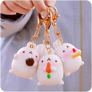 B279 Creative Cute Fat Rabbit Couple Pack Car Accessories Pendant Male and Female Cartoon Car Keys Wholesale Bag pictures & photos
