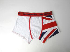 White Cotton Men′s Short Boxer Briefs pictures & photos