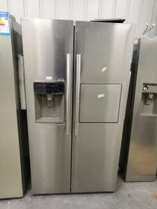 Glass White Shine Refrigerator with Side by Side Door pictures & photos