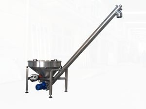 Rounded Hopper Inclined Screw Conveyor pictures & photos