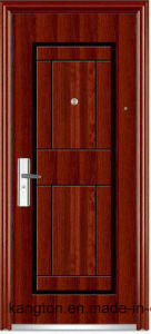 Real Texture Luxury Decorative One and Half Door-Leaf Steel Door (steel door) pictures & photos