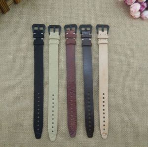 2016 Trend Cancas and Leather Wrist Watch Strap with Clasp--Kz1301