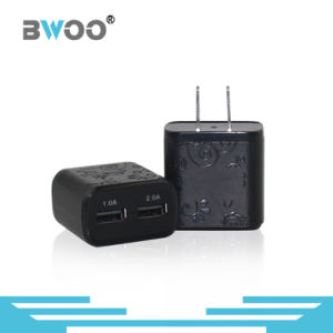 Portable Dual USB Wall Charger with Over-Current Protection pictures & photos