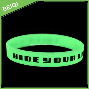 Popular Glow Silicone Wristband with Glow in The Dark pictures & photos