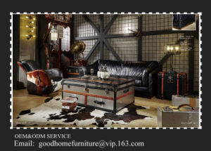 Top Quality Black Color Vintage Chesterfield Sofa pictures & photos