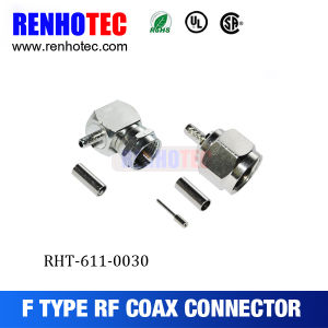 Right Angle F Connector Crimp pictures & photos
