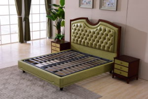 2017 Wooden Frame Soft Leather Bed for Bedroom Home Furniture pictures & photos
