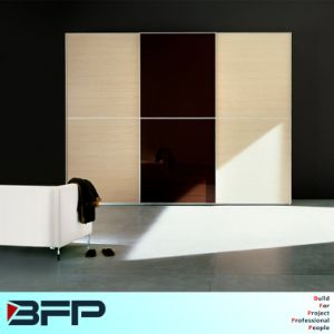 Bedroom Melamine Wardrobe Cabinet with Sliding Door pictures & photos