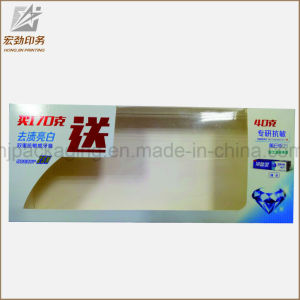 Custom Printed Clear Plastic Toothpaste Box with Hanger, Clear PVC/Pet/PP Plastic Packaging Box pictures & photos