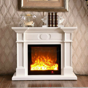 Modern Simple White LED Lights Heating Electrical Fireplace (323S) pictures & photos