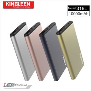 Kingleen USB Power Bank 10000mAh Standard Mirco Cable Kingleen Model 318L Made in China pictures & photos