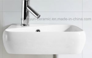 Ceramic Wall Hanging Wash Basin Bathroom Sink (ML-8515) pictures & photos