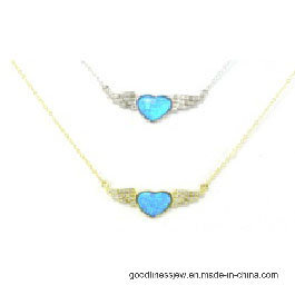 925 Sterling Silver AAA CZ Opal Necklace (N6590) pictures & photos