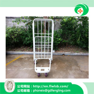 U-Shaped Foldable Cage Trolley for Storage pictures & photos