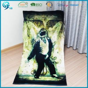 100% Cotton Velour Reactive Dye Custom Photo Printed Towel pictures & photos