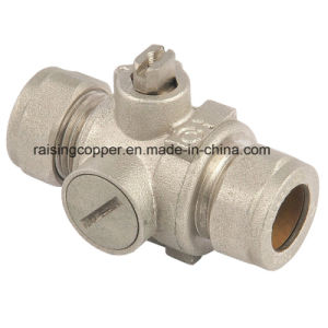 Nickle Plated Brass Ball Valve with Compression End pictures & photos
