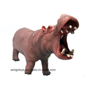 Collectible Hippo Model in P, Astic Material Cotton Filled for Kids and Children pictures & photos