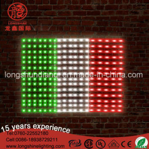 LED Italian Flag Lights Poles for Sale with Green White Red pictures & photos