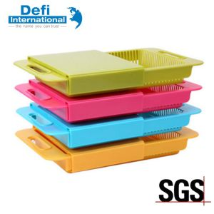 Plastic Cutting Board with Draining Function pictures & photos
